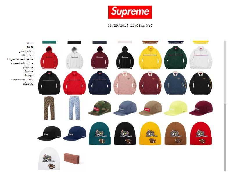 Supreme clothing online store