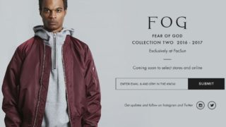 FOG Fear of God Collection 2 がPacsun で12/17に発売予定