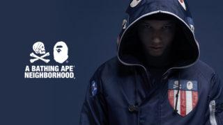 BAPE A Bathing Ape × Neighborhood のコラボコレクションが1/21に発売予定