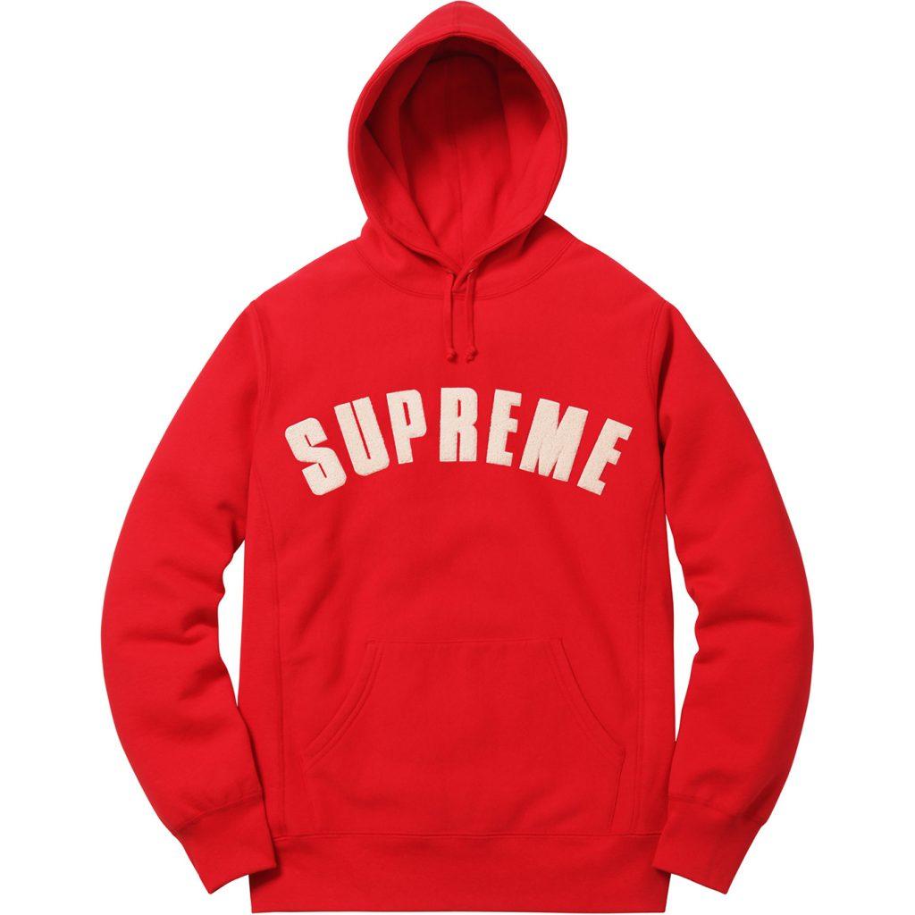 supreme-2017ss-chenille-arc-logo-hooded-sweatshirt