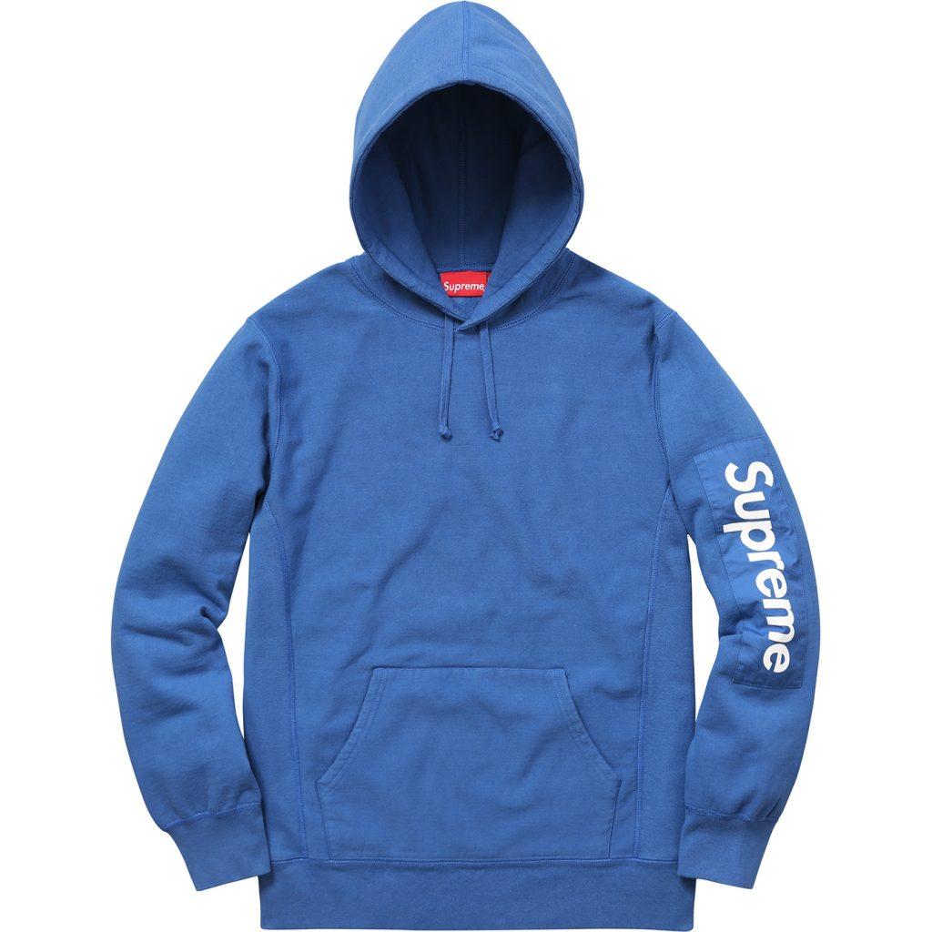 supreme-2017ss-sleeve-patch-hooded-sweatshirt