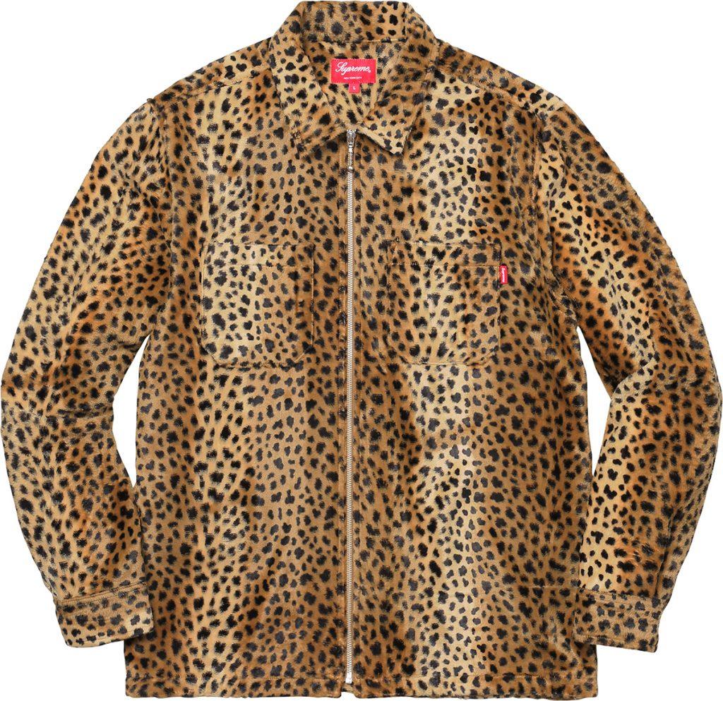 supreme-2017aw-fall-winter-cheetah-pile-zip-up-shirt