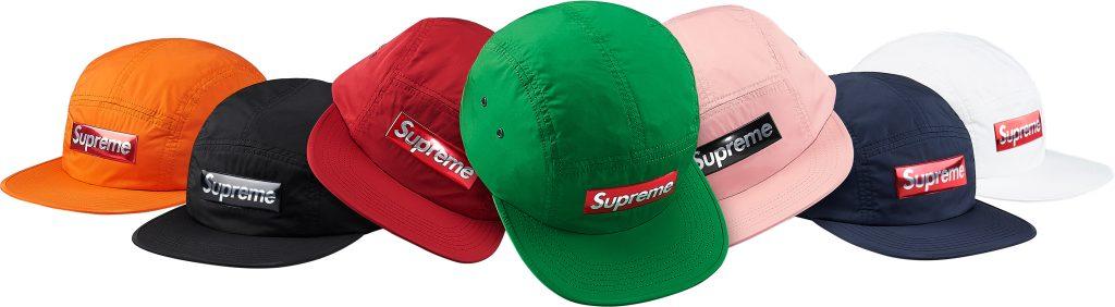 supreme-2017aw-fall-winter-liquid-metal-logo-camp-cap