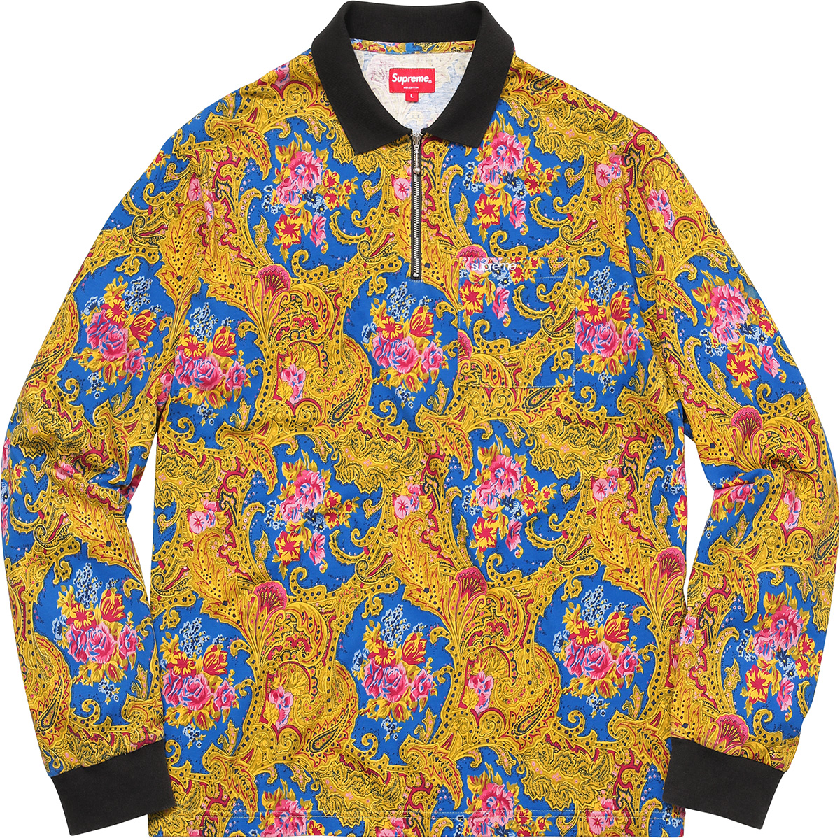 supreme-2017aw-fall-winter-paisley-l-s-polo