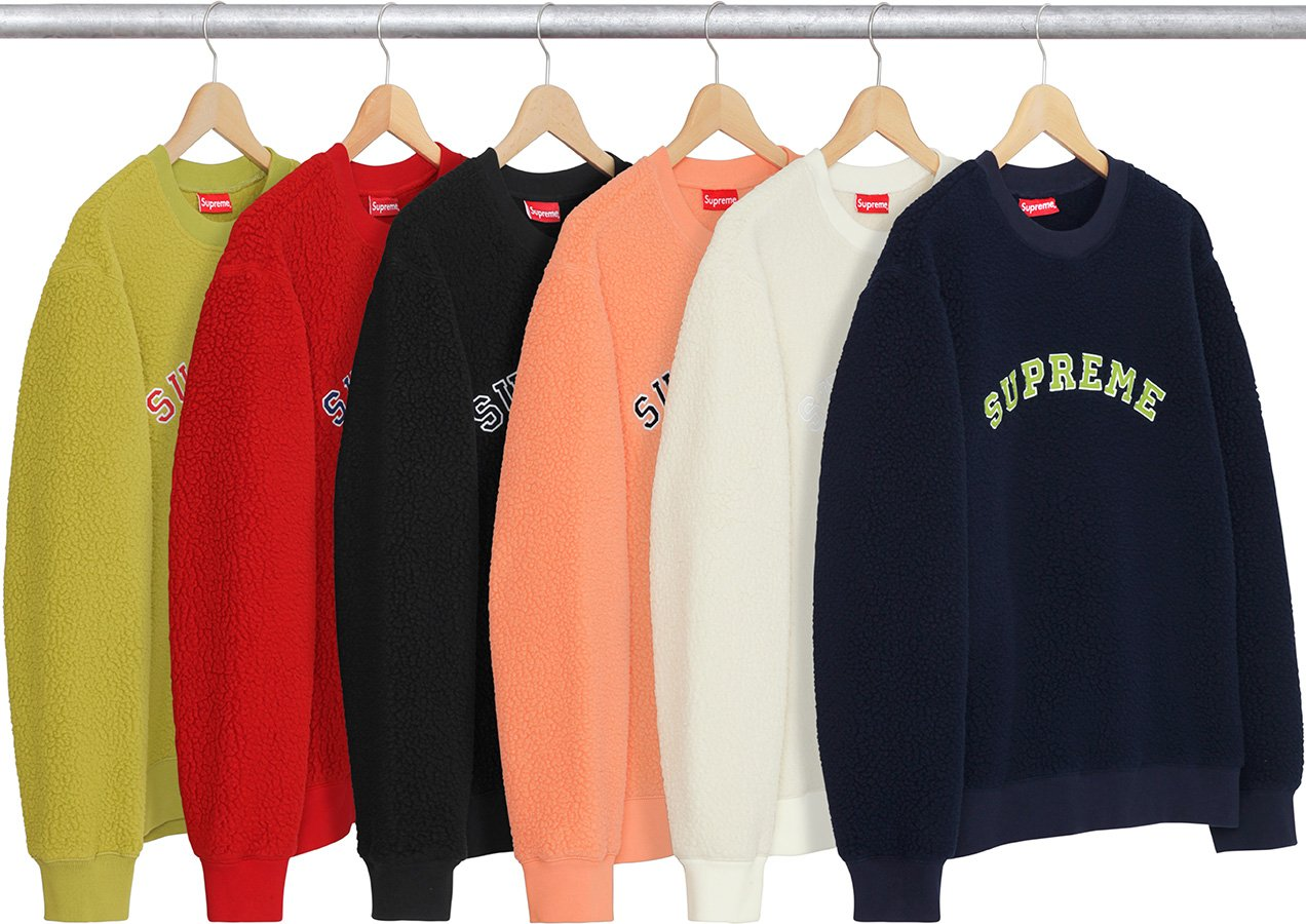 supreme-2017aw-fall-winter-polartec-deep-pile-crewneck