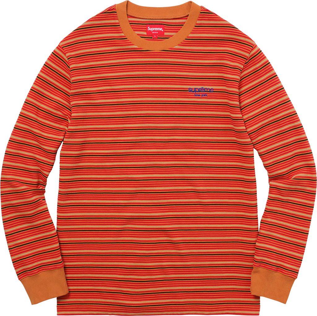 supreme-2017aw-fall-winter-raised-stripe-l-s-top