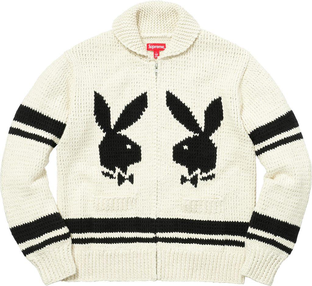 supreme-2017aw-fall-winter-supreme-playboy-shawl-collar-full-zip-sweater