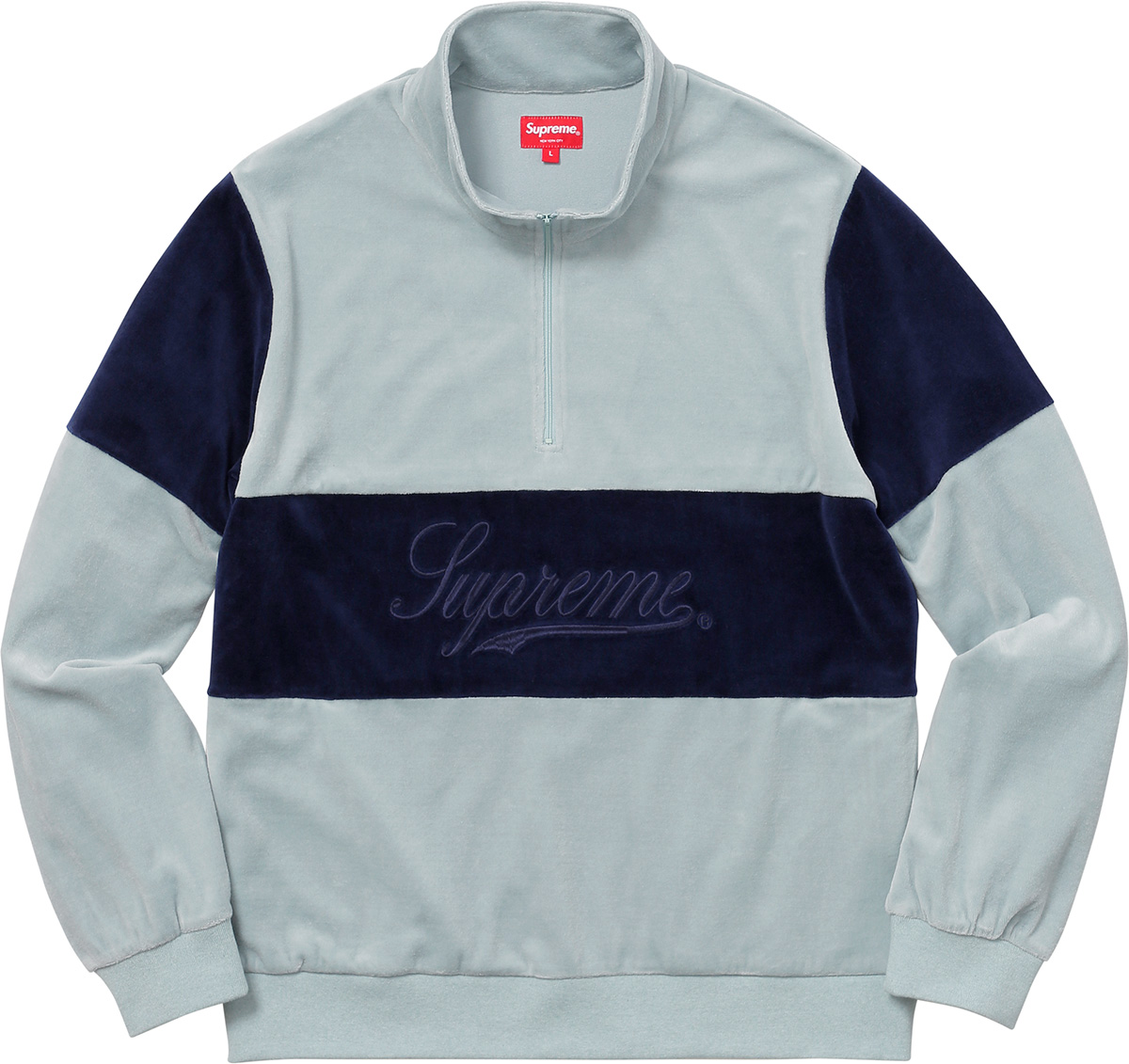 supreme-2017aw-fall-winter-velour-half-zip-pullover
