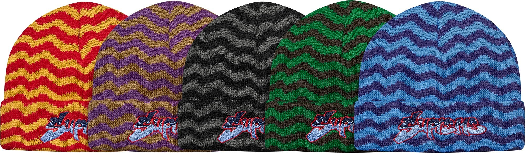 supreme-2017aw-fall-winter-zig-zag-stripe-beanie