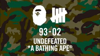 BAPE A BATHING APE × UNDEFEATED 2017AWコラボコレクションが11/18に国内発売予定【10/21に先行発売】