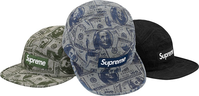 supreme-2017aw-fall-winter-100-dollar-bill-camp-cap