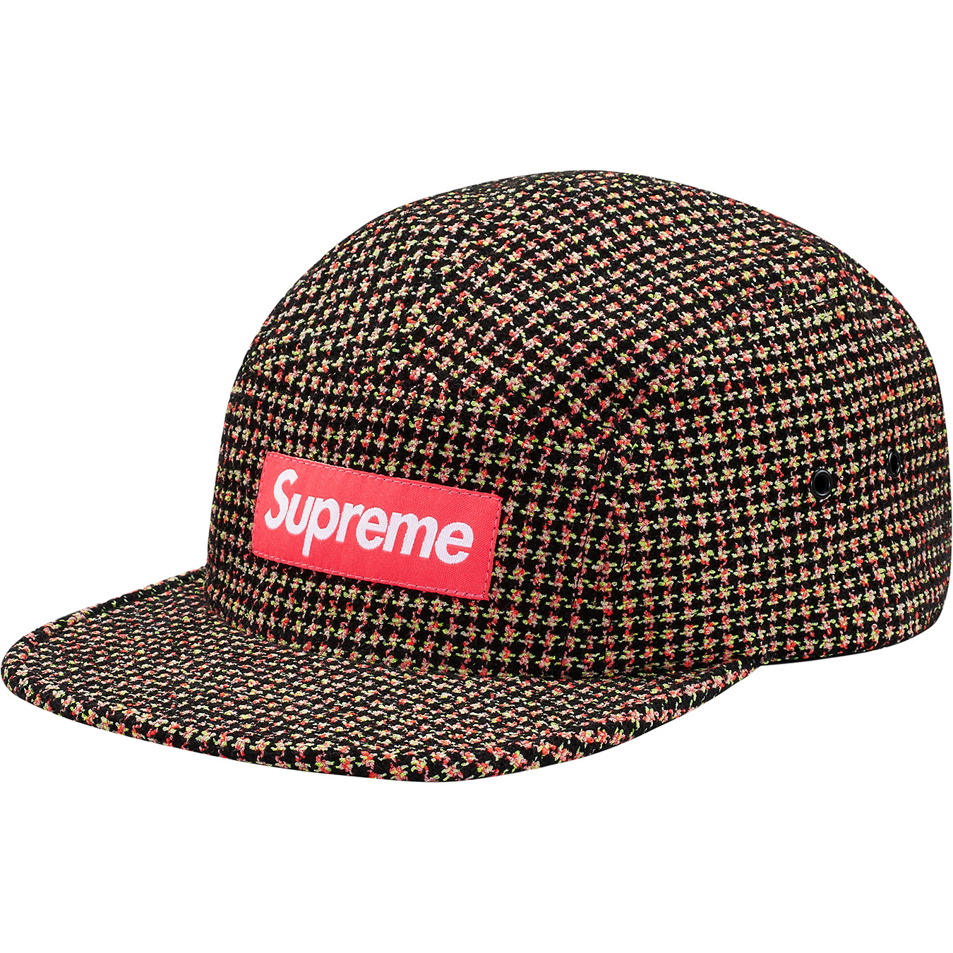 supreme-2017aw-fall-winter-boucle-houndstooth-camp-cap
