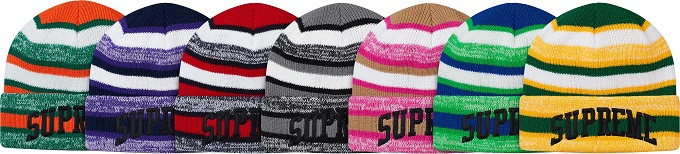 supreme-2017aw-fall-winter-heather-stripe-beanie