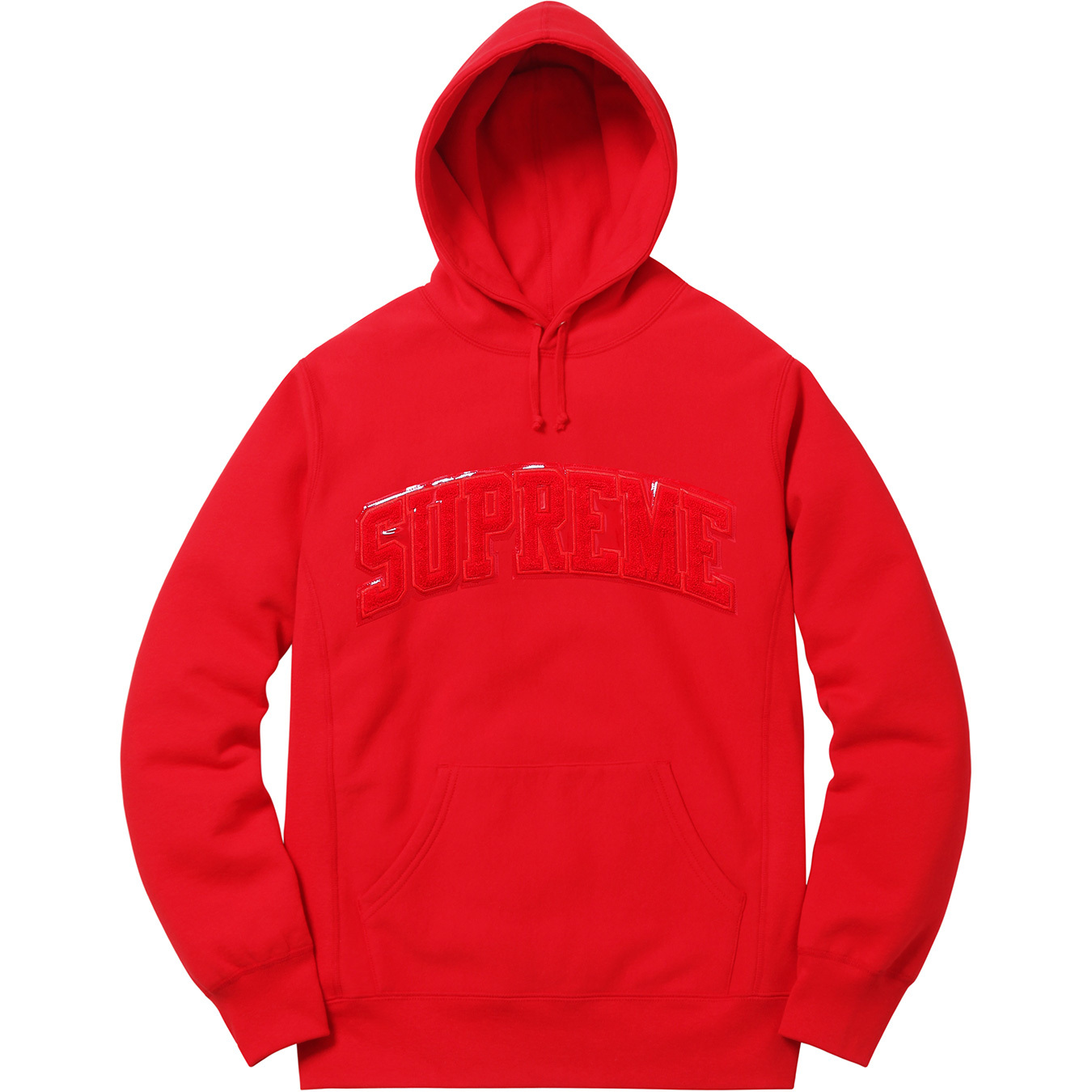 supreme-2017aw-fall-winter-patent-leather-arc-logo-hooded-sweatshirt
