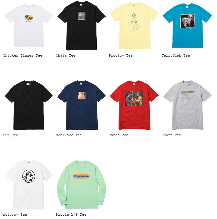 supreme t shirt collection