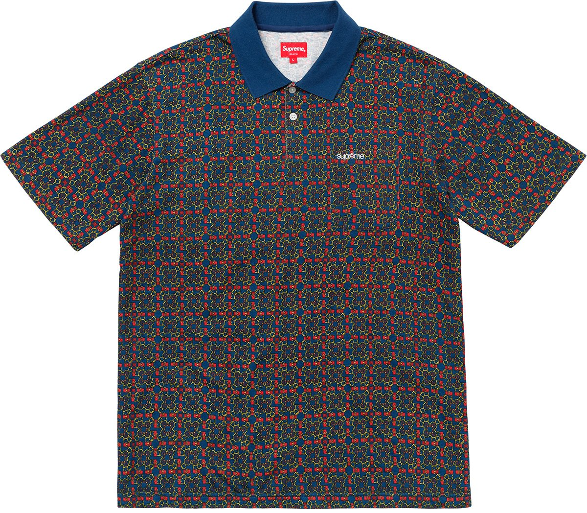 supreme-18ss-spring-summer-bridle-print-polo