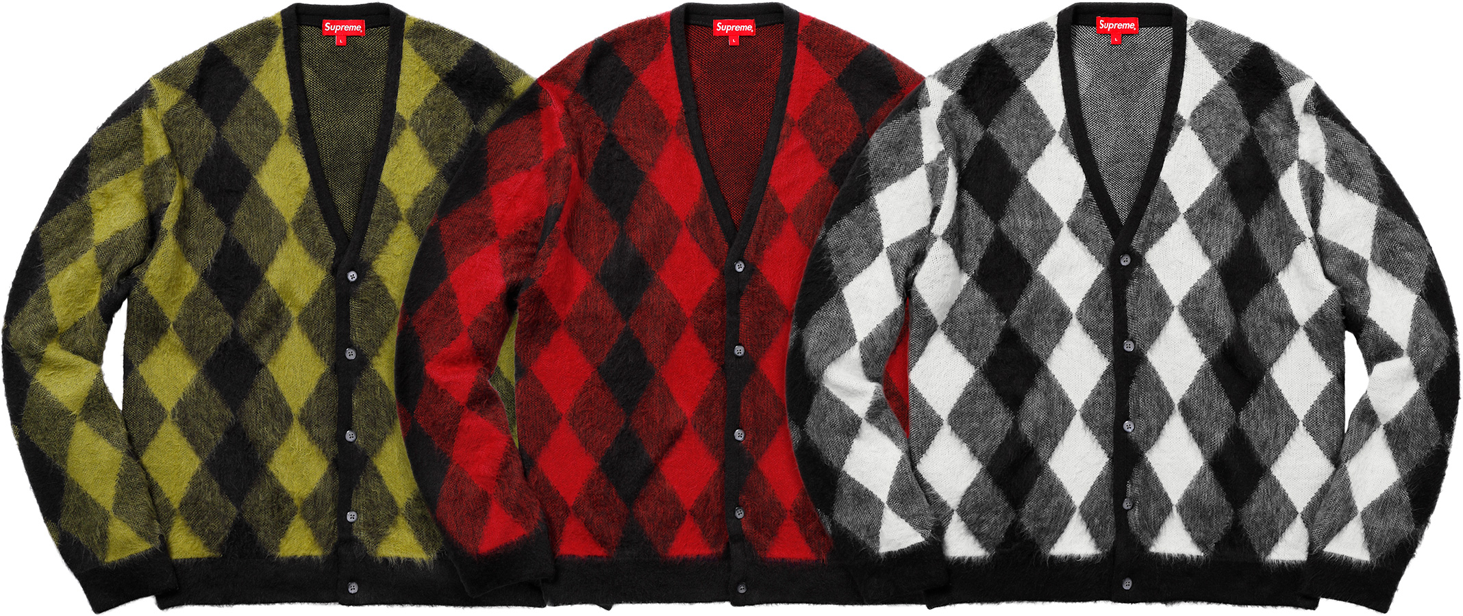 supreme-18ss-spring-summer-brushed-argyle-cardigan