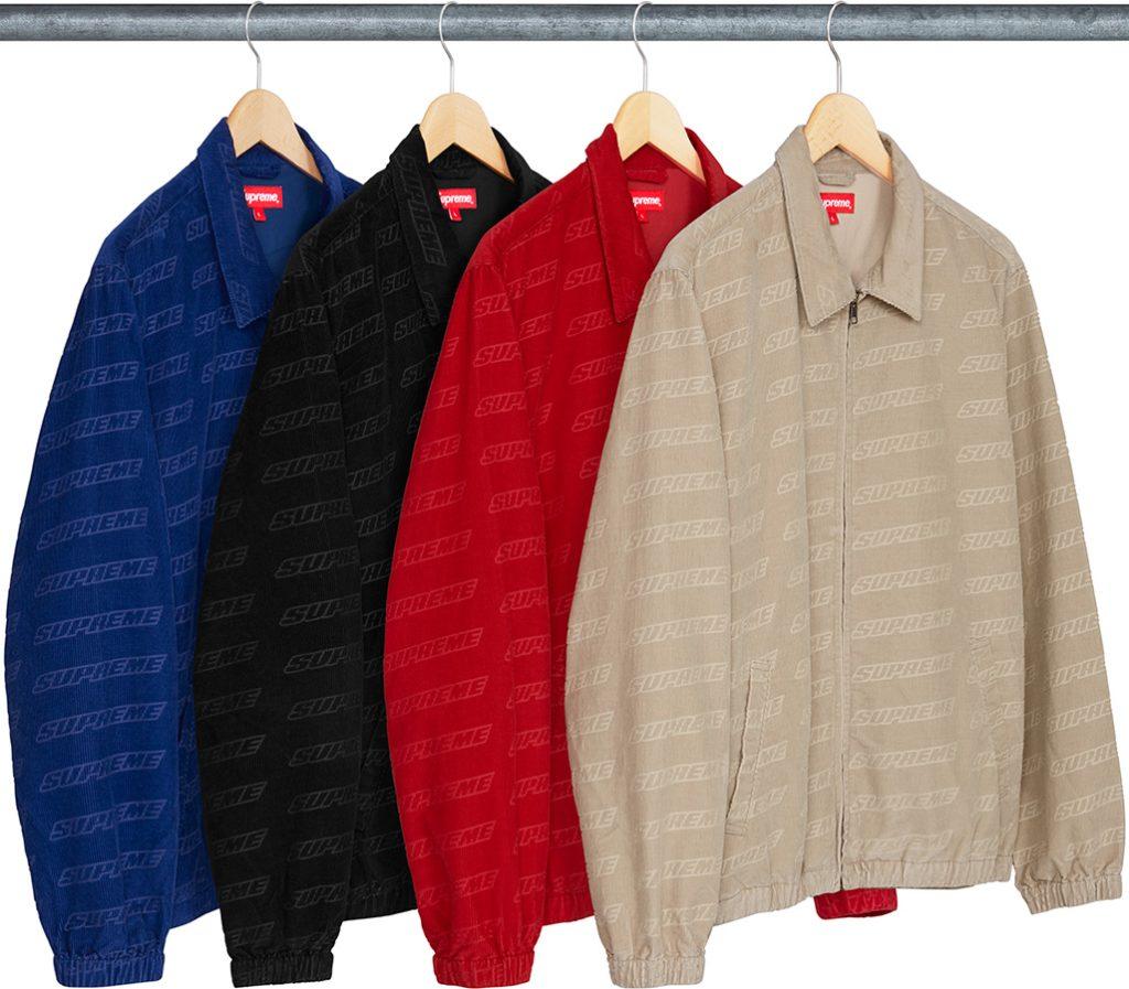 supreme-18ss-spring-summer-debossed-logo-corduroy-jacket