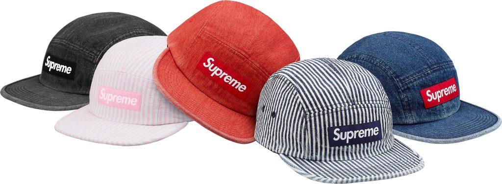 supreme-18ss-spring-summer-denim-camp-cap