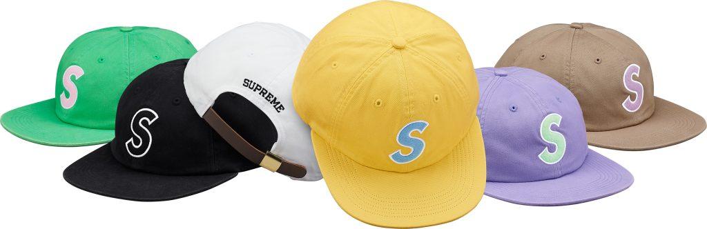 supreme-18ss-spring-summer-felt-s-logo-6-panel