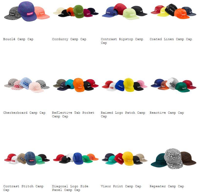supreme-18ss-spring-summer-hats