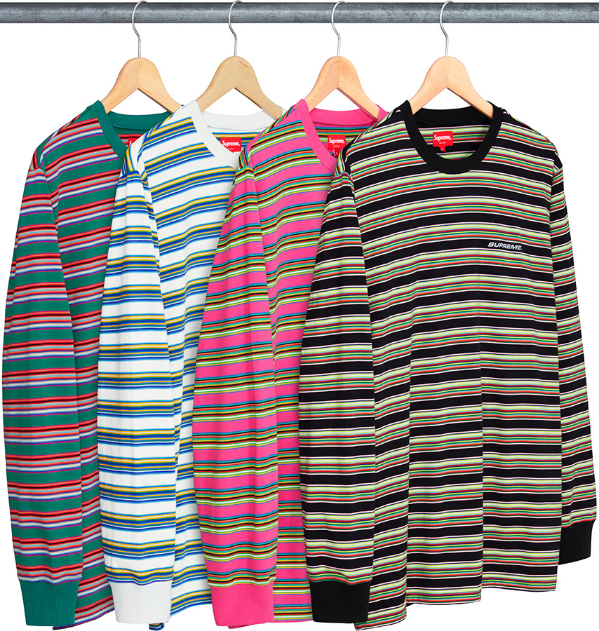 supreme-18ss-spring-summer-multi-stripe-l-s-top-