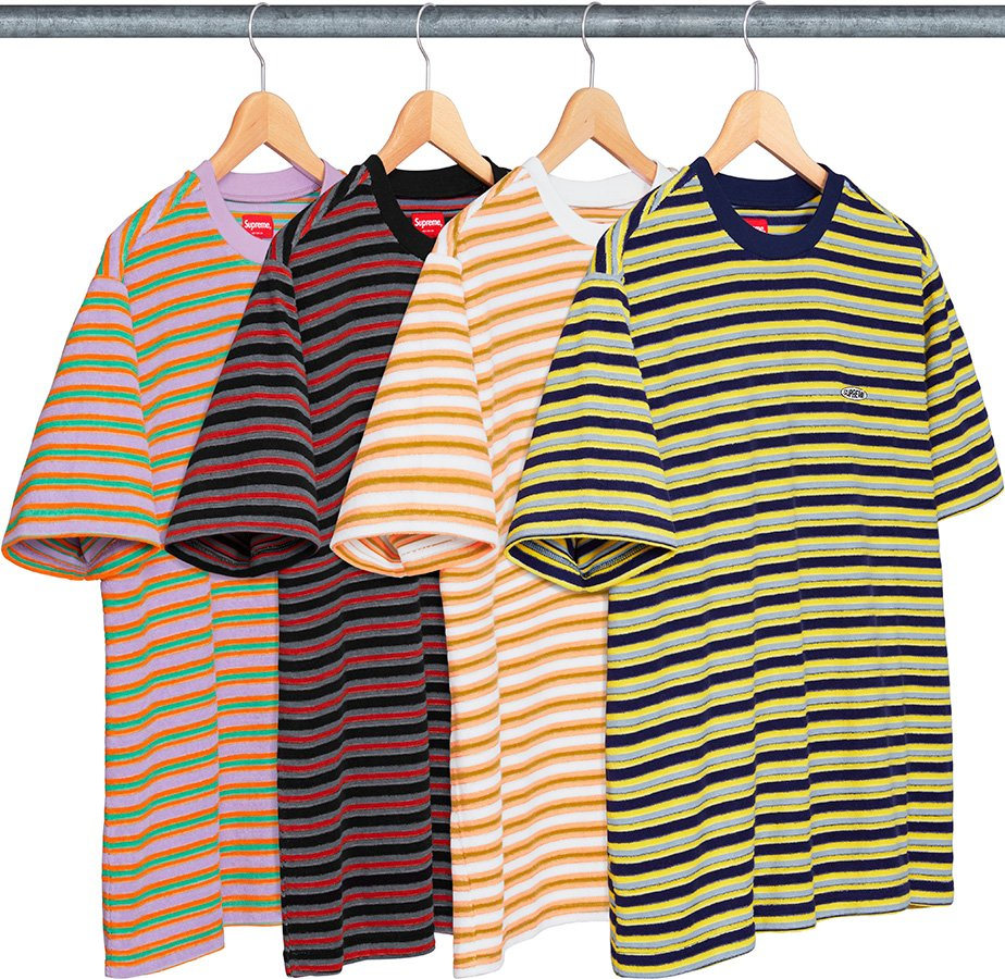 supreme-18ss-spring-summer-multi-stripe-terry-tee