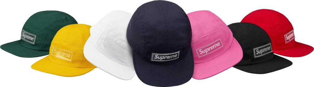 supreme-18ss-spring-summer-nylon-pique-camp-cap