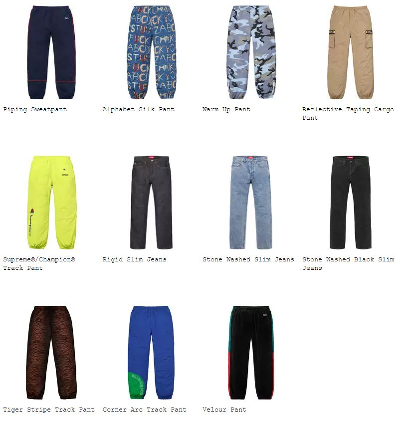 supreme-18ss-spring-summer-pants