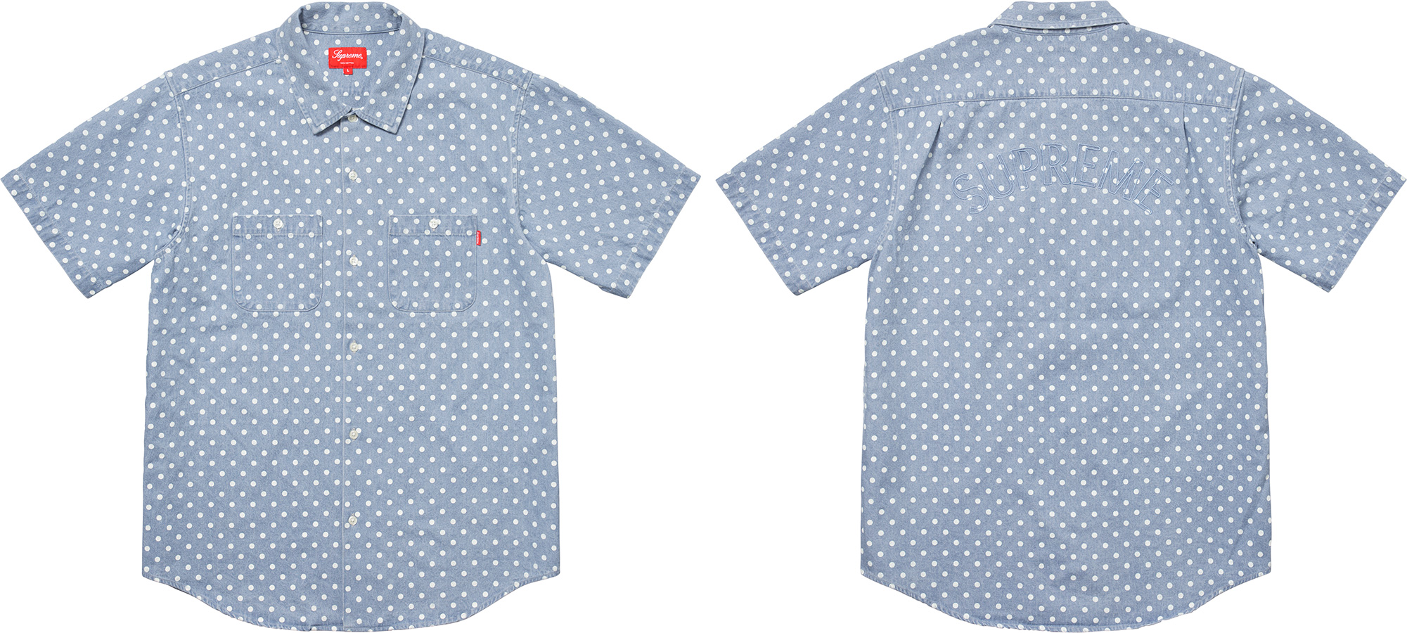 supreme-18ss-spring-summer-polka-dot-denim-shirt