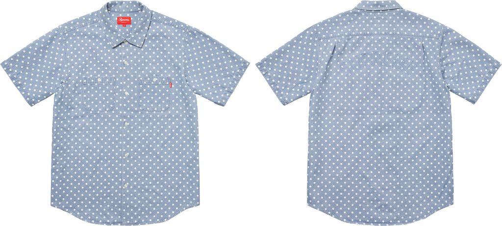 supreme-18ss-spring-summer-polka-dot-denim-shirt