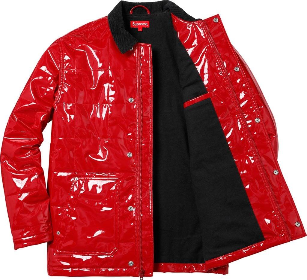 supreme-18ss-spring-summer-quilted-patent-vinyl-work-jacket