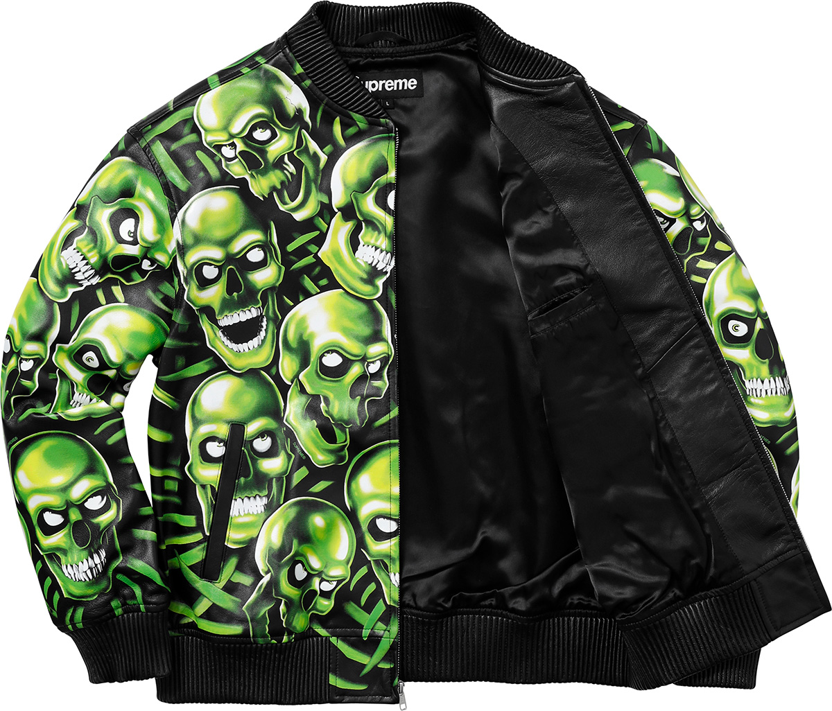 supreme-18ss-spring-summer-skull-pile-leather-bomber-jacket