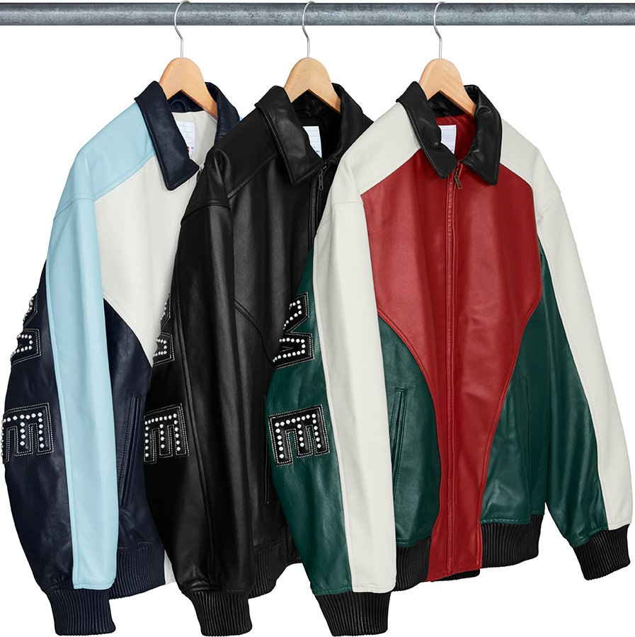 supreme-18ss-spring-summer-studded-arc-logo-leather-jacket