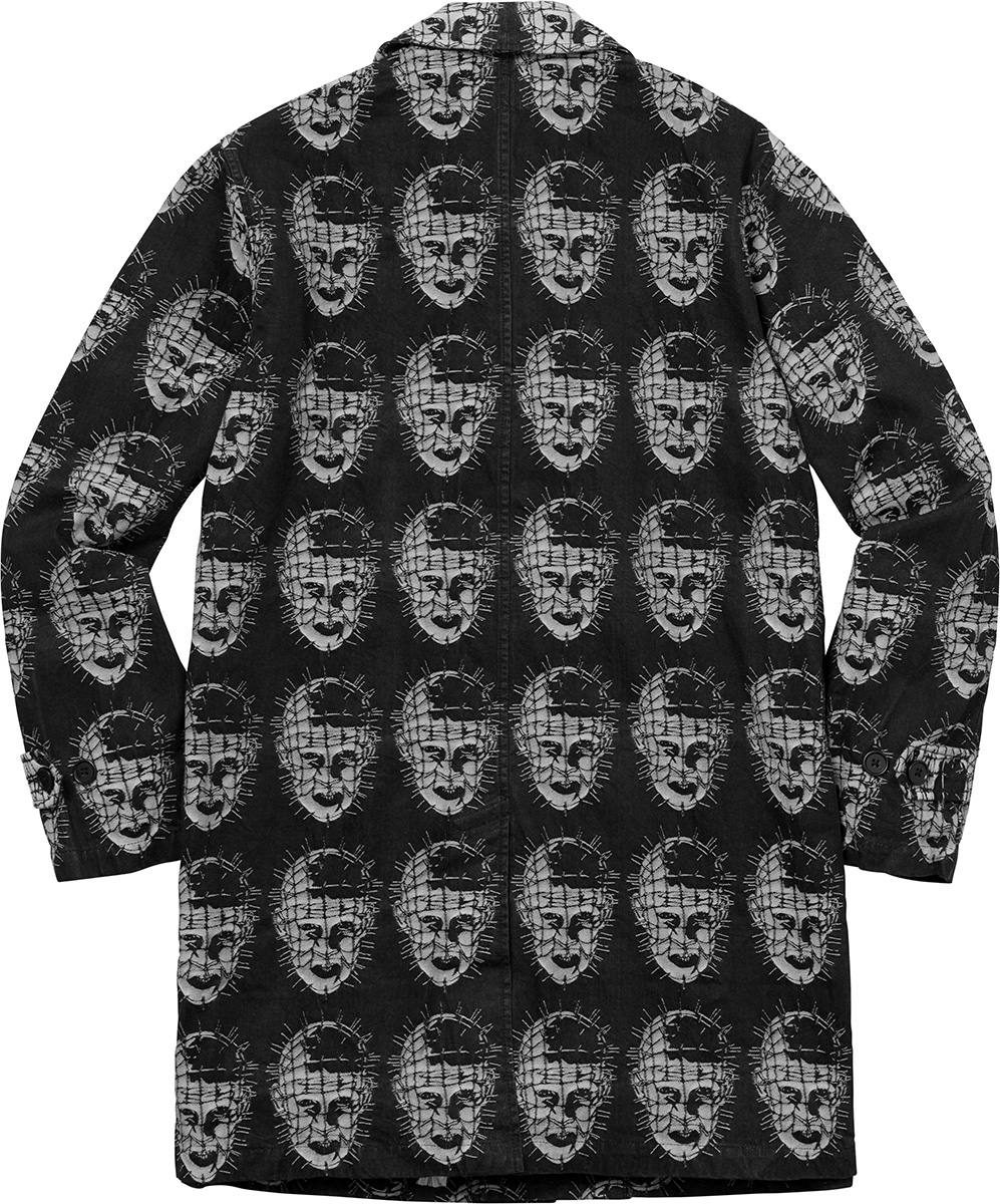 supreme-18ss-spring-summer-supreme-hellraiser-jacquard-denim-trench-coat