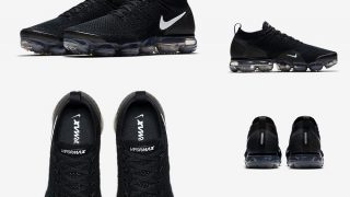 NIKE AIR VAPORMAX FLYKNIT 2 BLACK/WHITEが3/22に海外発売予定
