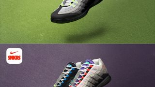 NIKE NIKECOURT VAPOR RF AM95 BLACK VOLT & GREEDYが3/21に国内発売予定