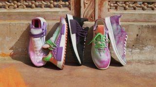 Pharrell × adidas NMD Hu Holi Powder Dye 3カラーが4/22に再販予定【直リンク有り】