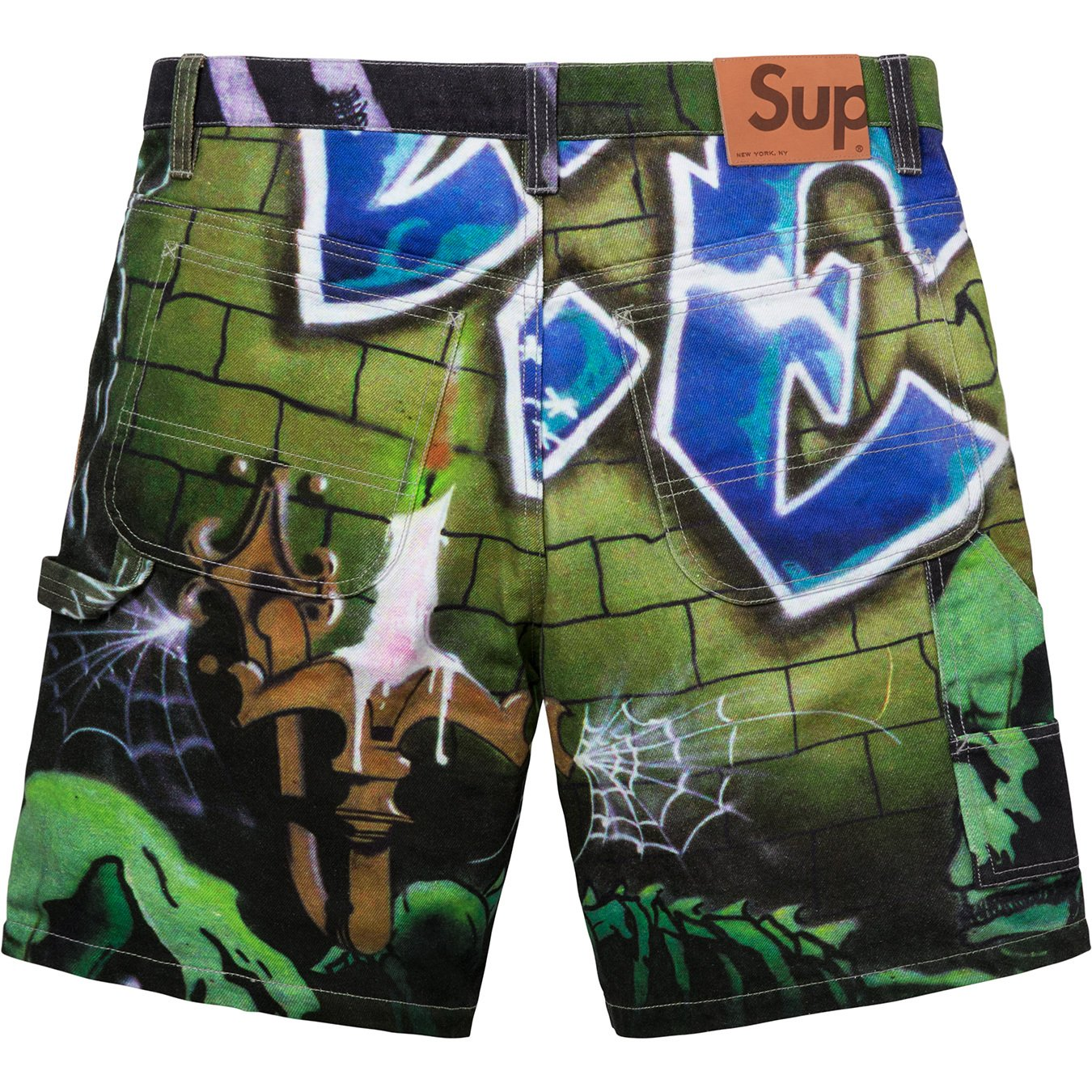 supreme-18ss-spring-summer-lion-s-den-painter-short