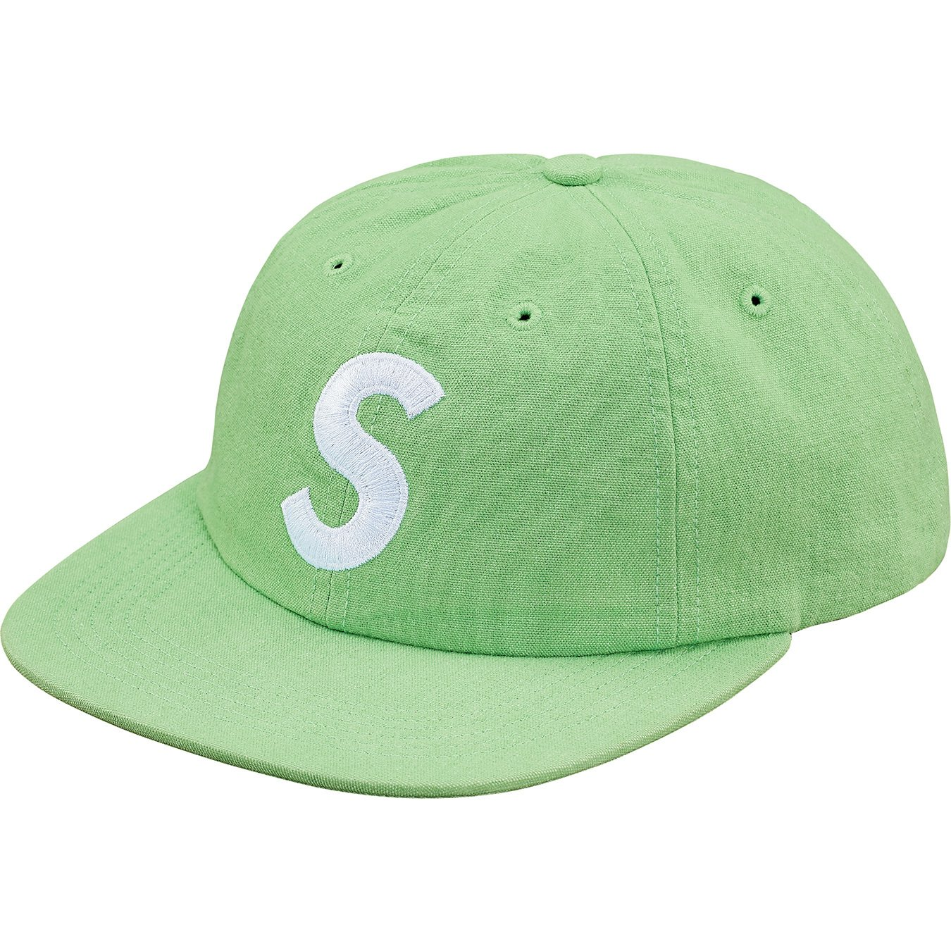 supreme-18ss-spring-summer-washed-chambray-s-logo-6-panel