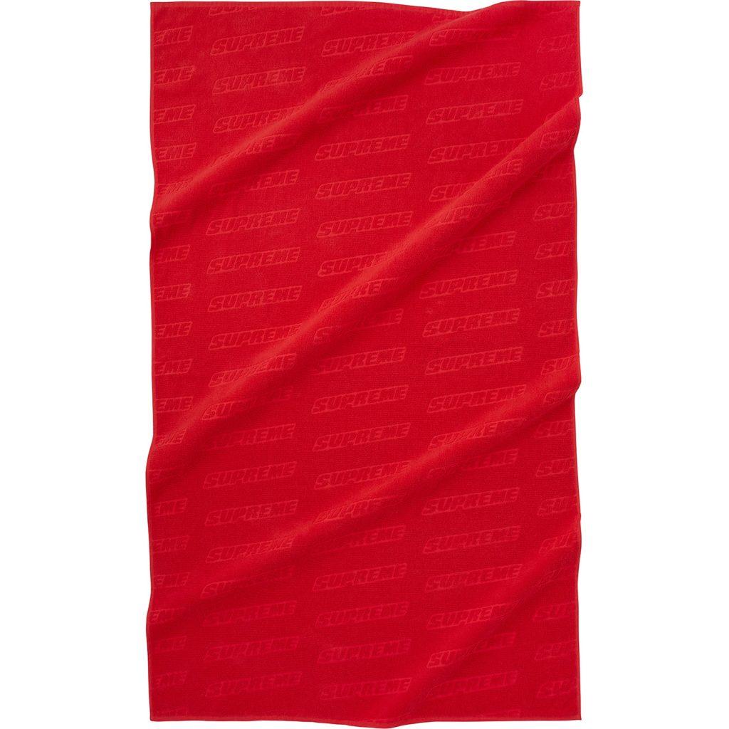 supreme-18ss-spring-summer-debossed-logo-beach-towel