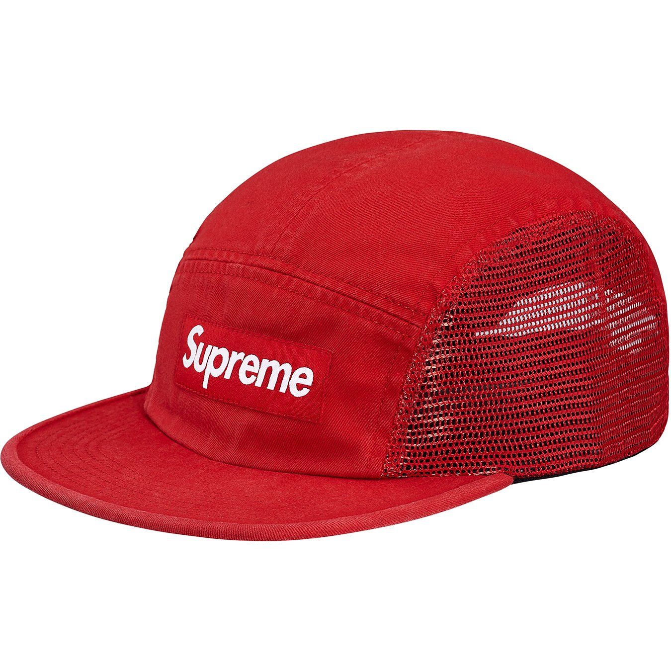 supreme-18ss-spring-summer-mesh-side-panel-camp-cap