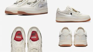 TRAVIS SCOTT × NIKE AIR FORCE 1 LOW SAILが8/10に海外発売予定