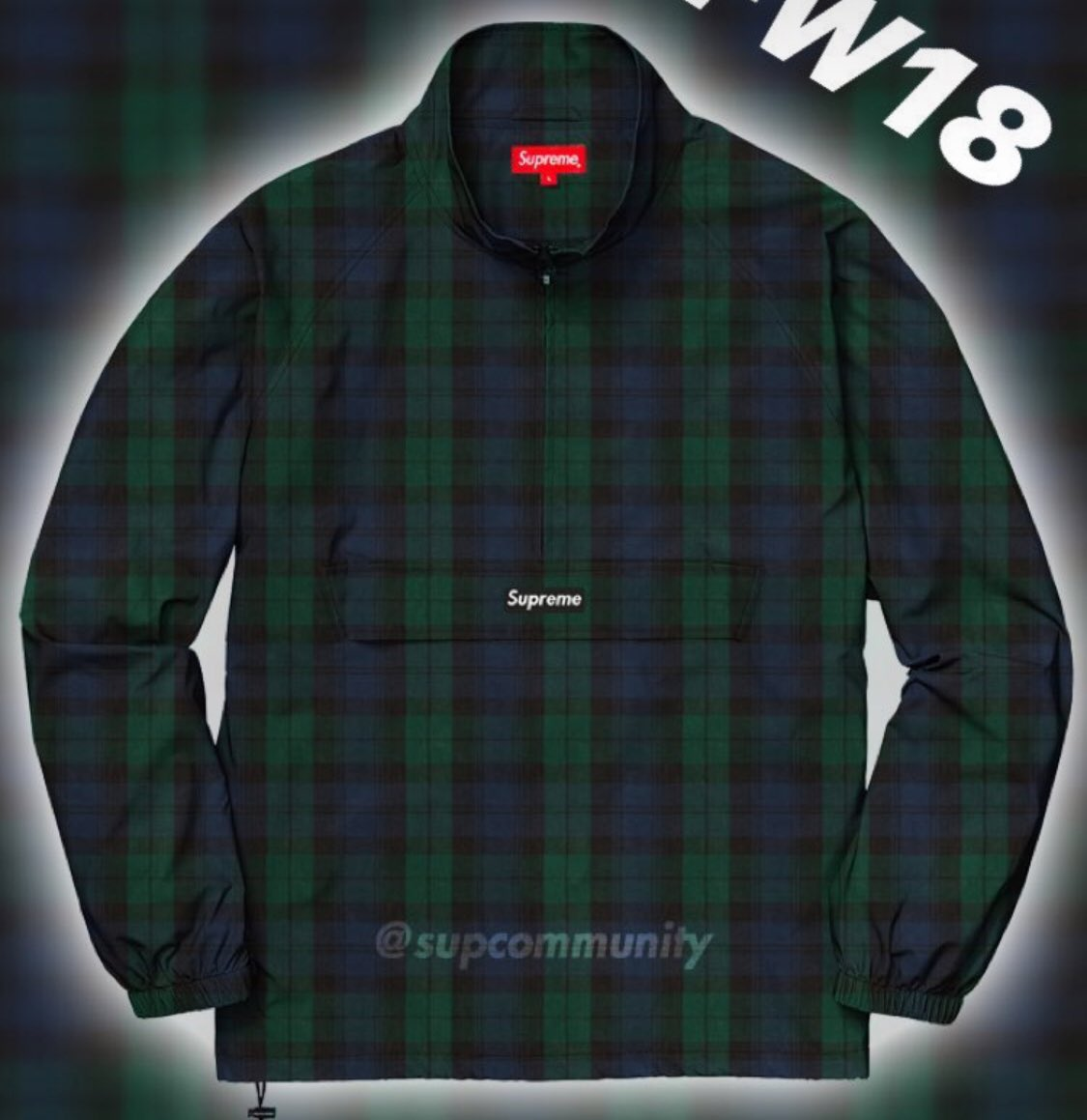 supreme-18aw-fall-winter-blackwatch-halfzip-jacket