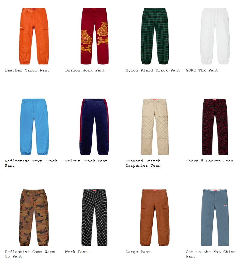 supreme-18aw-fall-winter-collection-pants