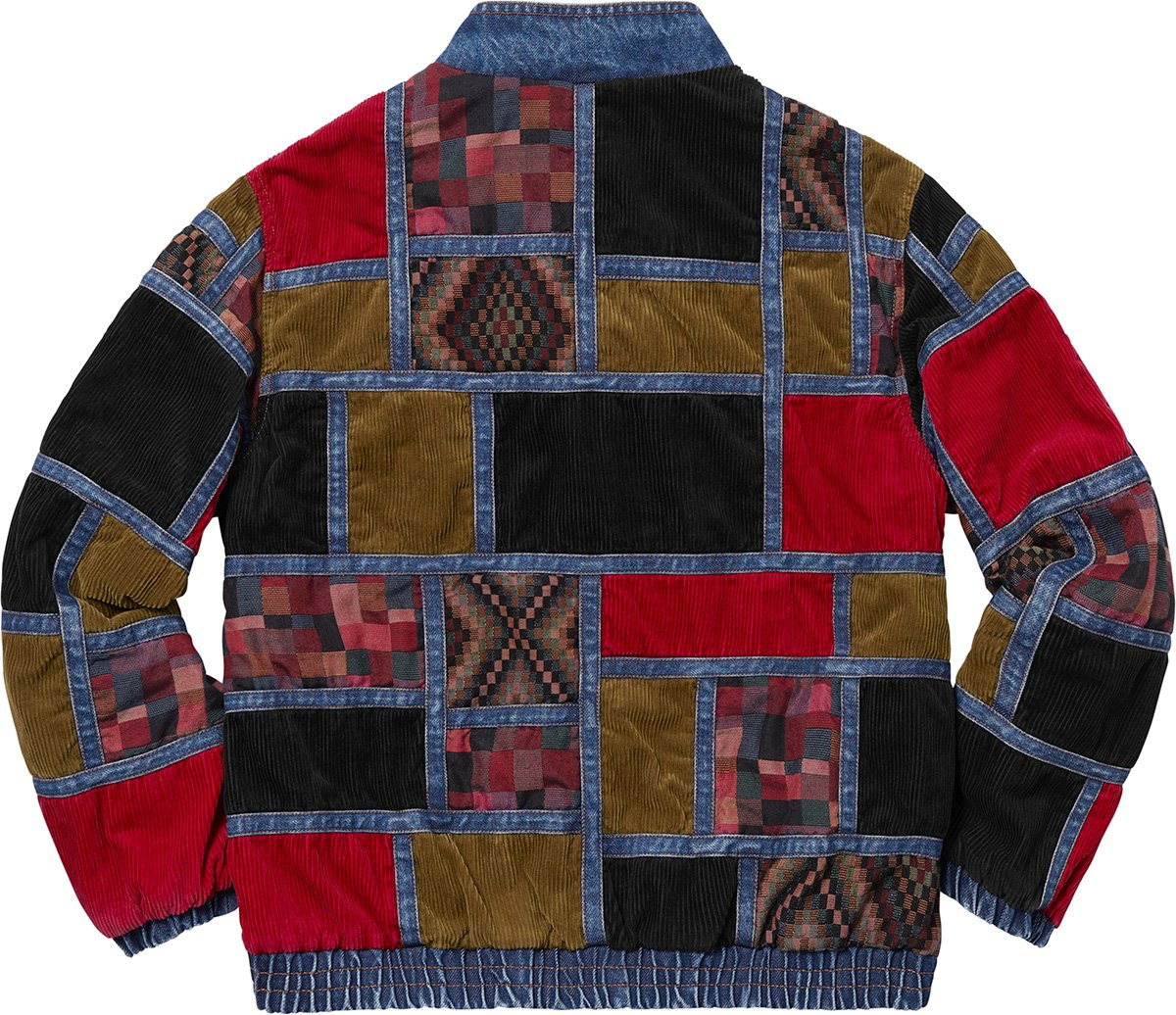 supreme-18aw-fall-winter-corduroy-patchwork-denim-jacket