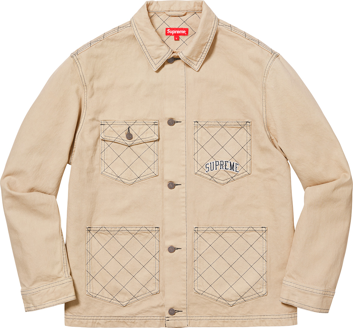 supreme-18aw-fall-winter-diamond-stitch-denim-chore-coat