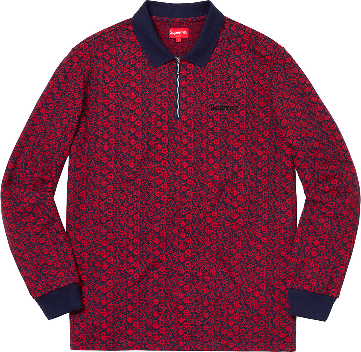 supreme-18aw-fall-winter-floral-jacquard-zip-l-s-polo