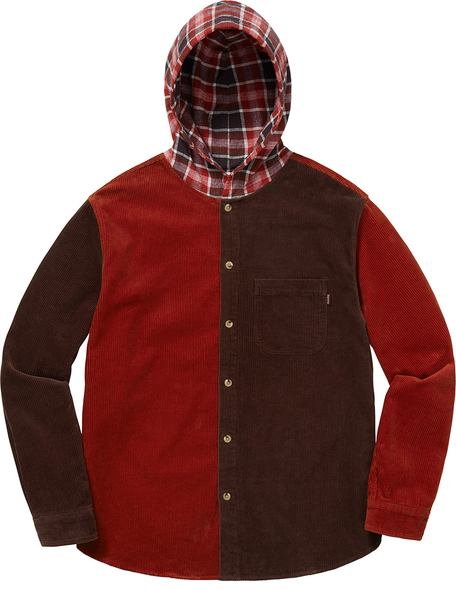 supreme-18aw-fall-winter-hooded-color-blocked-corduroy-shirt