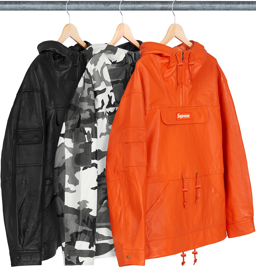 supreme-18aw-fall-winter-leather-anorak